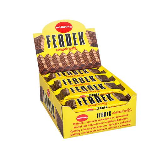 Ferdek - Waffeln mit Kakaocremefüllung mit Schokolade überzogen