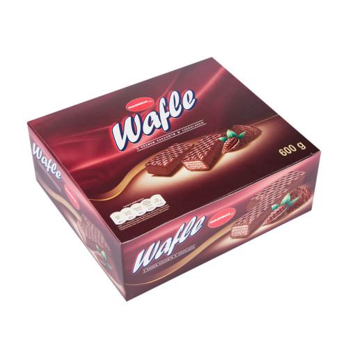 Waffeln mit Kakaocreme-Füllung und mit Schokolade überzogen