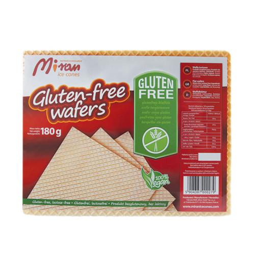 Trockene Waffelzuschnitte - glutenfrei