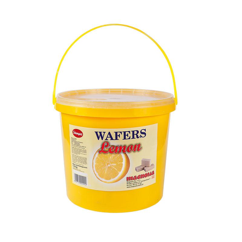 Cremewaffeln mit Zitronengeschmack im Eimer